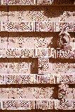Porte de maison dans la ville de Baḍa, wâdî Dû'an,Yémen, Ḥaḍramawt,1997.