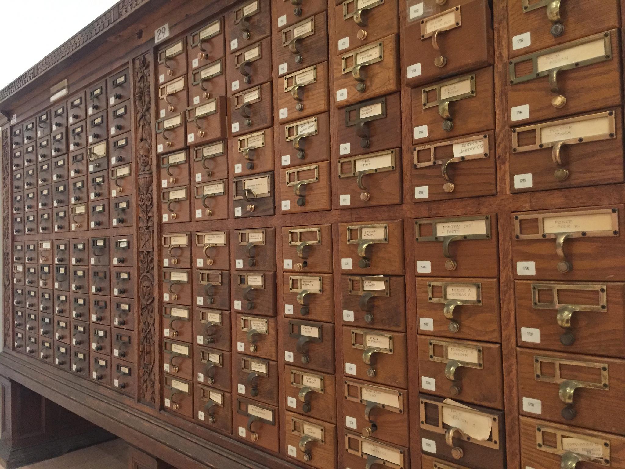 Fichier papier de bibliothèque