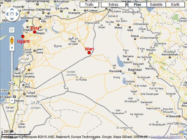 Syrie-Ebla-Ugarit-Mari