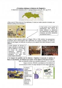 Deparis-Evolution ethnique et dialectes du Maghreb Deparis Maeva
