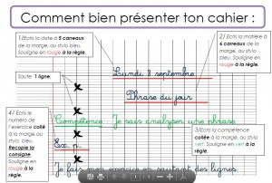 presentation cahier