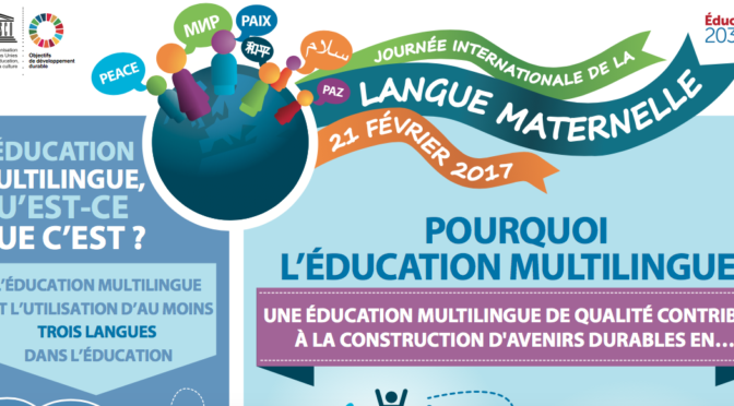 Journée internationale de la langue maternelle 2017, avec l'UNESCO