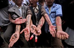 """Face aux partis, les  espoirs déçus de """"la jeunesse révolutionnaire"""" © Mohamed al Salahi, 2014"""