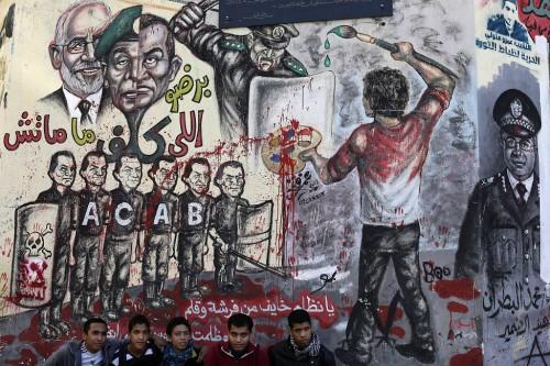 Egypt protests graffiti, 10dec12