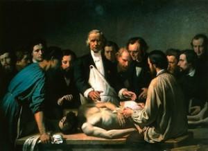 Augustin-FEYEN-PERRIN-Velpeau-enseignant-à-lhôpital-de-la-Charité-vers-1864-Tours