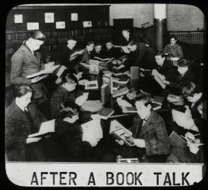 "Massive reading! (Photo credit: ""Work with schools: after a book talk, showing boys gathered..."" by the New York Public Library, Flickr commons, http://www.flickr.com/photos/lselibrary/3925726691/. )"