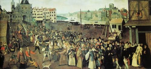 Ein Weg in pluralen Zeiten: Prozession der katholischen Liga in Paris, 1590 (Quelle: Wikimedia commons)