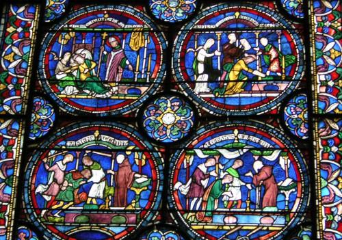 Bußszenen in der Kathedrale von Canterbury. Quelle: wikimedia commons, TTaylor.
