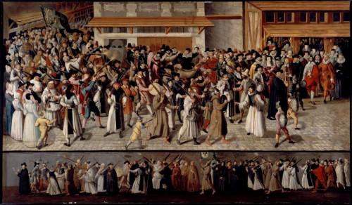 Sehen und gesehen werden: Eine Prozession der katholischen Liga in Paris während der französischen Religionskriege (Musée Carnavalet, Paris)