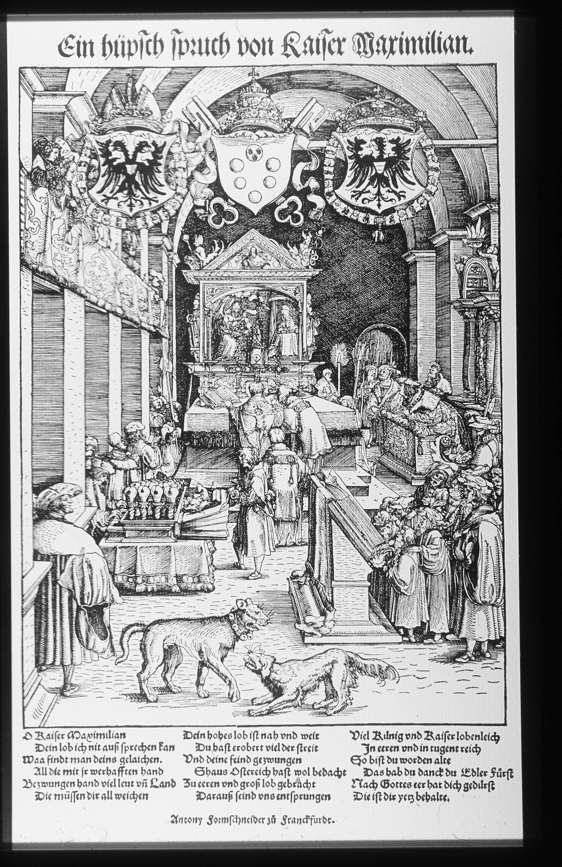 Kaiser Maximilian hört die Messe (Hans von Weiditz, 1519).