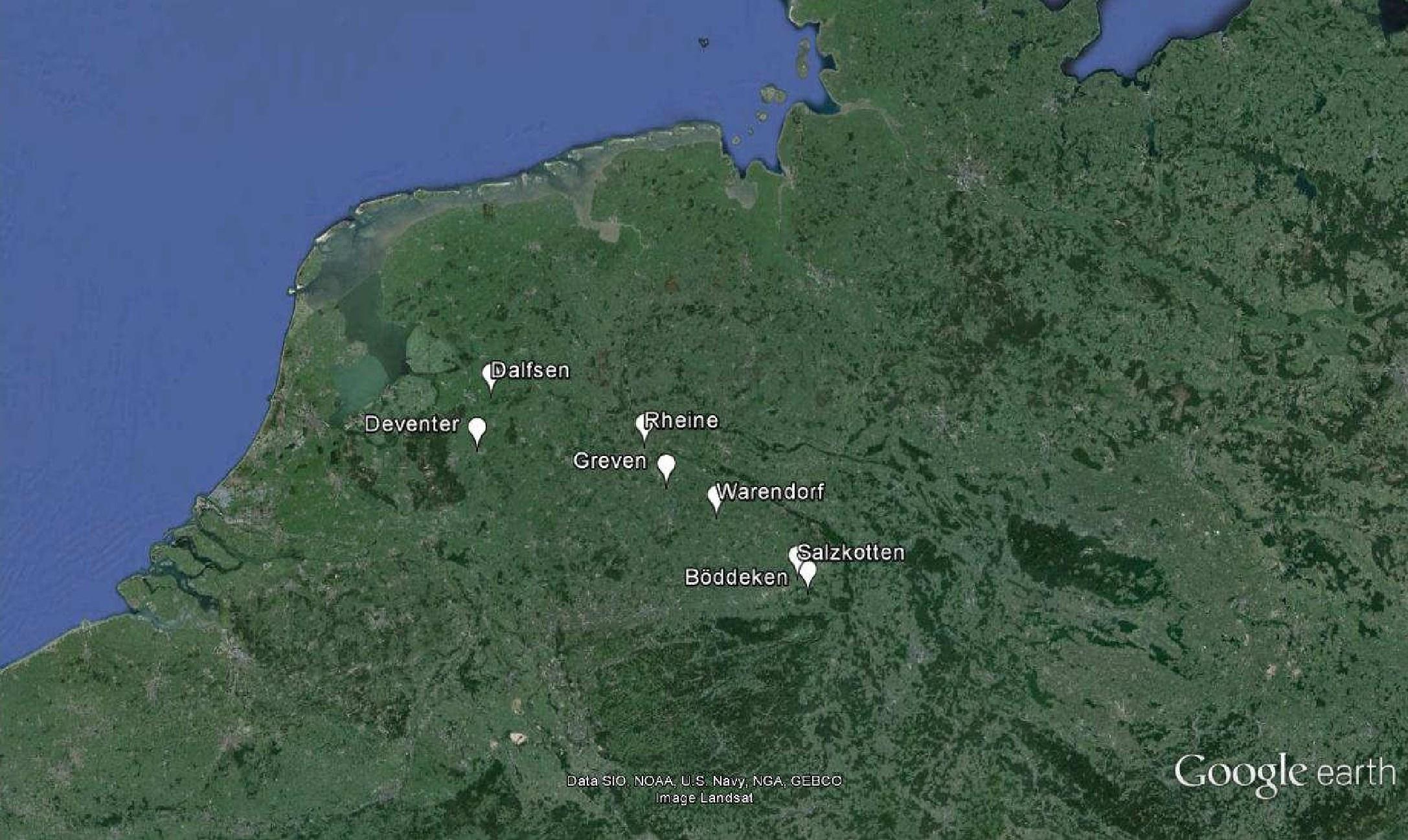 Auf dem Weg gen Westen: Göbels Reisestationen 1532