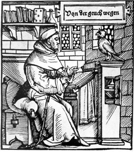 Thomas Murner in einer Abbildung aus dem Jahr 1519.