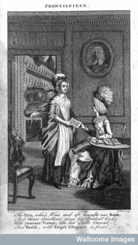 Hannah Glasse, The art of cookery, made plain and easy (London, c. 1770),  Frontispiece. © Wellcome Images