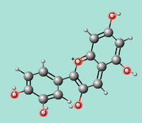 Figure 3. Cyanidin, a flavonoid (Wikipedia)