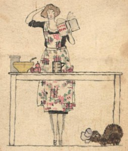 Front cover illustration, American cookbook, 1920s | Szathmary Culinary Manuscripts, University of Iowa Special Collections