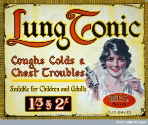 Lung Tonic Advertisement, c. 1900, copyright Wellcome Images.