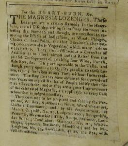 Magnesia Lozenges. Norfolk CRO, MC 433/1 715x9, p. 149 [Credit: Norfolk County Record Office]