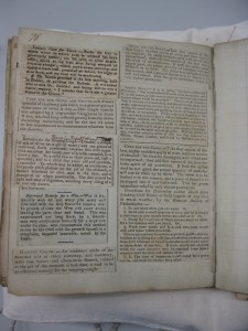Newspaper recipes pasted into a manuscript recipe book.  Wellcome, WMS 7366, p. 78. [Credit: Wellcome Library]