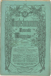 "Title Page of ""The Englishwoman's Domestic Magazine,"" September 1861. Source credit: Wikimedia Commons."