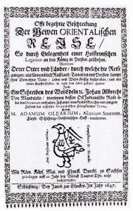 Olearius' text