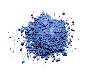 Natural ultramarine pigment, made of powdered lapis lazily. Works a treat if you're feeling blue...