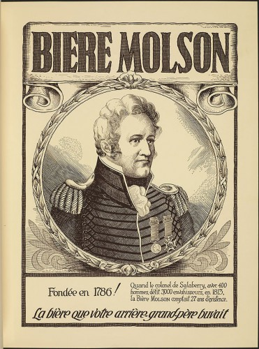 French-Language Advertisement for Molson Brewery (1924).  Image courtesy of Wikipedia.