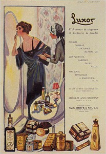 """Productos de Belleza Luxor,"" 1918. Image courtesy of WikiCommons."