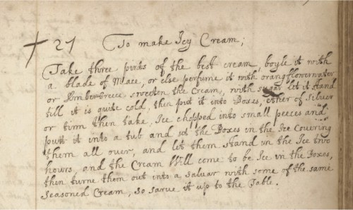 """""""To Make Icy Cream"""" MS.7113, f.158r"""