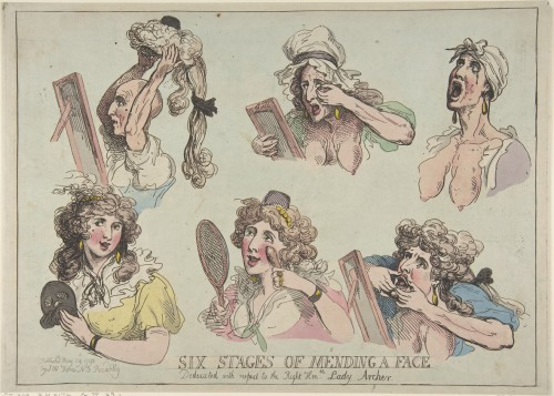 Thomas Rowlandson, Six Stages of Mending a Face, 1792. Courtesy of the Metropolitan Museum of Art.