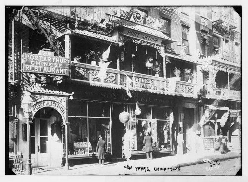 Early-twentieth-century New York City's Chinatown attracted diners in search of social and sexual transgressions. New Years, Chinatown, Port Arthur Chinese Restaurant, New York, n.d., Bain News Service, Library of Congress.