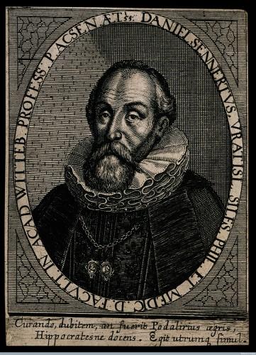 Daniel Sennert. Line engraving by S. Furck, 1650.