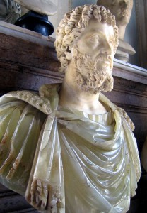 Septimius Severus, one of the bearded Roman emperors (193-211). Source: Wikipedia