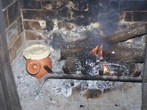 Hearth Cooking.  Photo courtesy of Ken Albala.