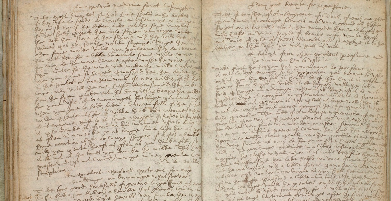 Frances Catchmay, Recipe Book (c. 1625), MS184A/65, Wellcome Library. Image courtesy of the Wellcome Library, London. The digital image of this item is copyrighted work made available under Creative Commons (by-nc 2.0 UK: England & Wales).