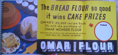 R. R. Donnelley and Sons, Lemon Pies or Wash Tubs (Chicago: 1934-1938).  Pictured here are promotional materials for Omar Blue Ribbon flour.