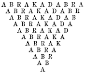 One possible representation of the 'Abracadabra' amulet. Source: Wikipedia