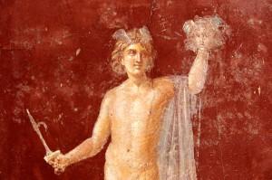 Perseus with the head of Medusa on a Roman fresco at Stabiae. Credit: Amadalvarez, Wikimedia