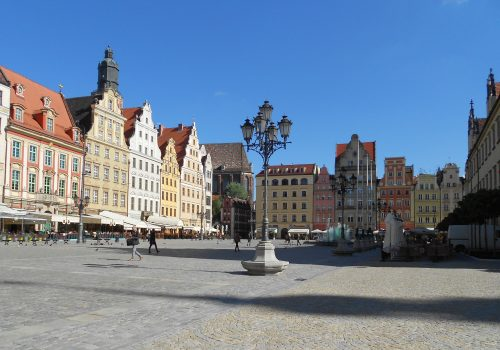 Image 1: Breslau (now Wrocław) main square to the south.]