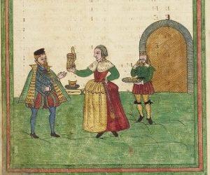Folger MS V.b.232, folio 14 verso