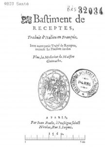 Title page of the Bâtiment des Recettes, printed in Paris by Jean Ruelle in 1560