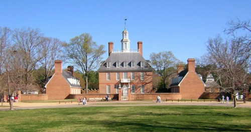 Governor's Palace, Colonial Williamsburg. Image courtesy of WikiMedia and Larry Pieniazek