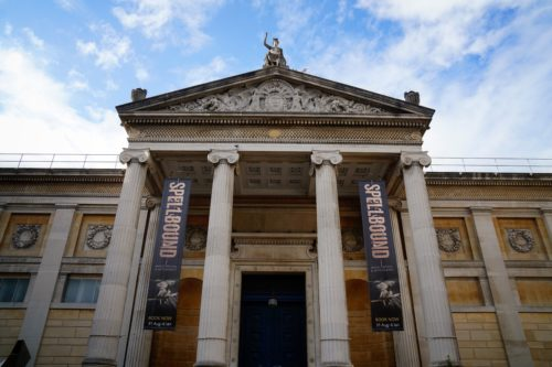 "Image of the Ashmolean Museum, Oxford, featuring the ""Spellbound"" exhibition.  Photo by permission of the author."