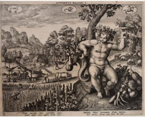 Autumnus. Adriaen Collaert. 1587. Folger Shakespeare Library.