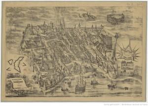 Plan de la ville de Bordeaux en 1550 / Adolphe Hequet, del