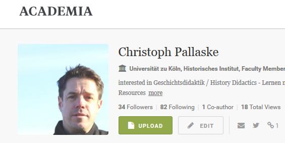 Christoph Pallaske bei Academia.edu