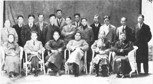 Les dirigeants, responsables et réalisateurs, Lianhua huabao, 1er juin 1935, 5.11, lors de l'inauguration des studios de Xujia hui