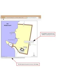 Image 16: capture d'écran d'une carte interactive de Césarée ouverte sous Internet Explorer