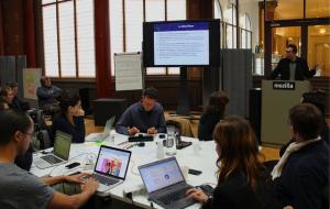 Photo du déroulement de l'atelier MesInfos (Crédit photo Fabian Ramirez Flores)