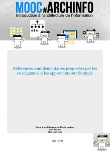 Mooc-Archinfo-2015-references-stample