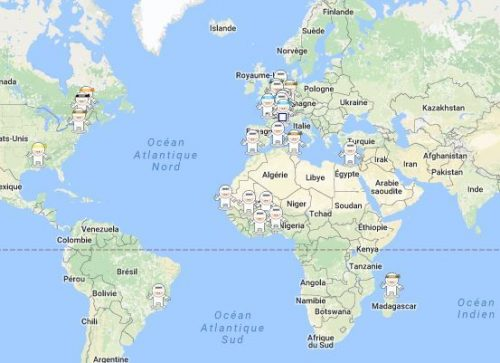 Exemple de géolocalisation des apprenants
